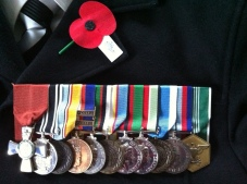medals and poppy