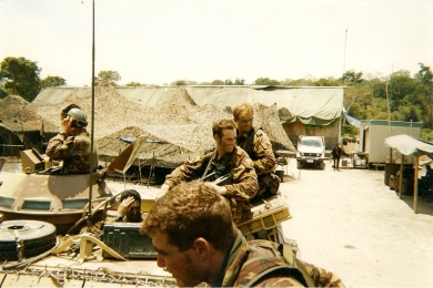Timor - returning from border tracking patrol